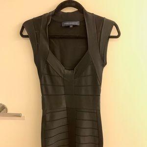 French Connection black bandage dress - size 6